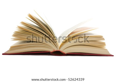 large open book isolated on white background