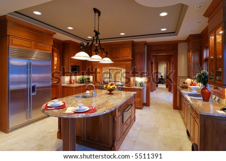 Large open kitchen in a luxury home