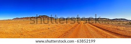 Large outback panorama with clear sky