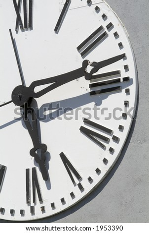 Large outdoor clock face