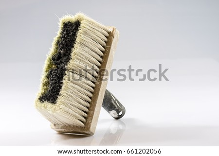 Large paint brush for painting walls, white background, isolated Zdjęcia stock ©