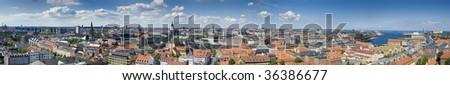 large panoramic view of Copenhagen, Denmark