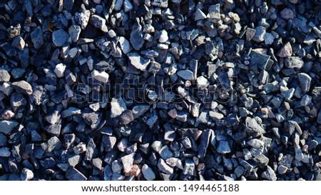 Large pebbles, large stones, background, copy space