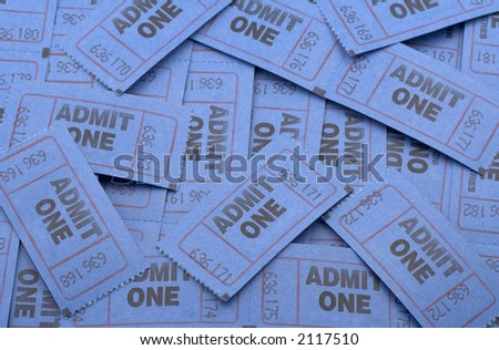 large pile of tickets that could be used for many kinds of events.
