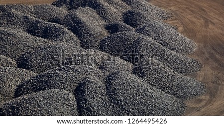 Large piles of processed Manganese rich ore rock Manganese Mining and processing in South Africa