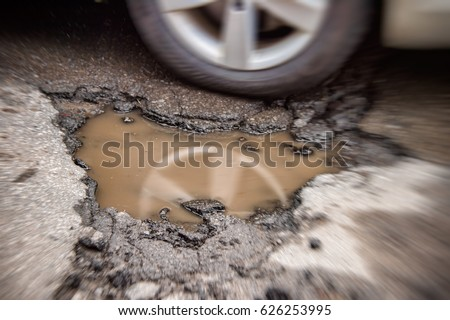 large potholes in montreal ...