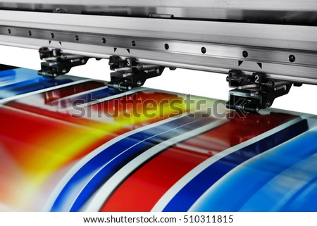 Large printer format inkjet working