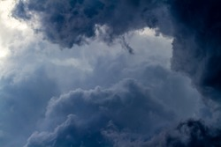 Large Puffy Storm Clouds in the Sky.  Cloud background.