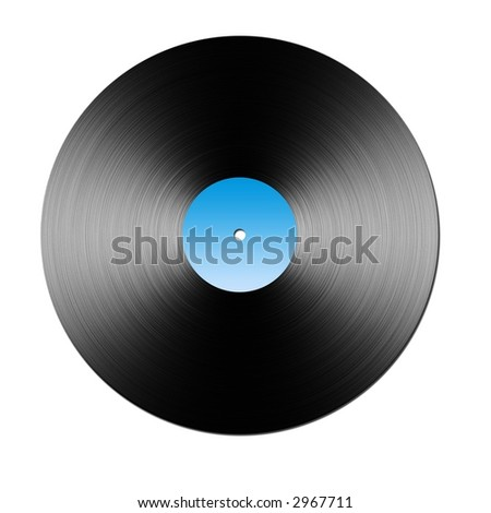 Large raster illustration of Vinyl LP