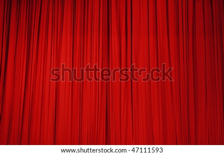 Large red stage curtain