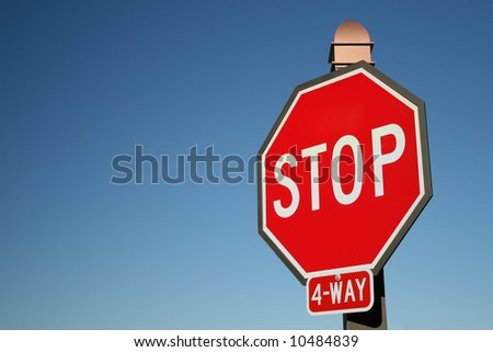 Large Red Stop Sign