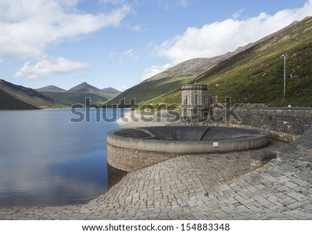 large reservoir in the mourne mountains north Ireland