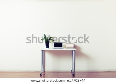 Large room and the desk, copy space #617702744