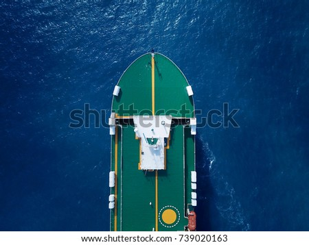 Large RoRo (Roll on/off) vessel cruising the Mediterranean sea #739020163
