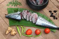 large seer fish cutting and preparation clicks