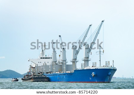 large ship on sea