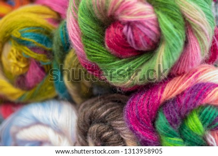 Large skeins of mohair blend yarn for knitting