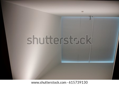 large skylight opening in modern architectural building #615739130