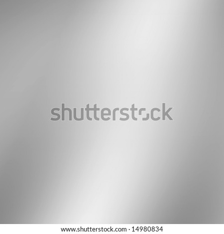 Large Smooth Metal Plate - stock photo