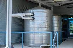 Large stainless steel rain capture tanks