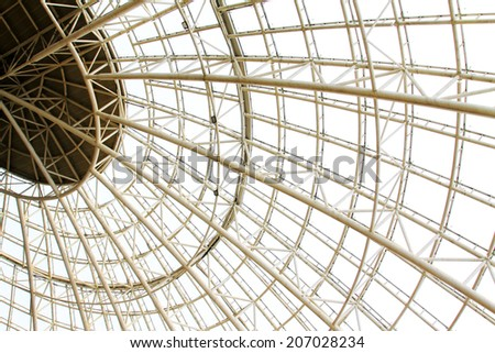 Large steel structure truss, closeup of photo - Shutterstock ID 207028234