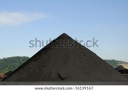 Large Stockpile of Coal
