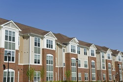 Large suburban apartment building detail