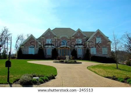 Large Suburban House - stock photo