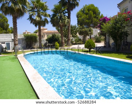 Large Swimming Pool in a holiday villa