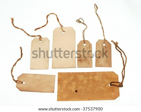 Large tags with strings - stock photo