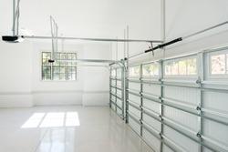 Large three car garage interior