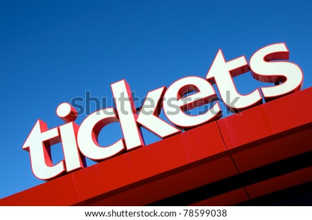 Large tickets sign
