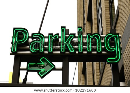 large underground parking garage in the old town area of Portland Oregon