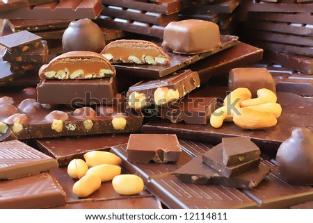 Large variety of quality chocolates.