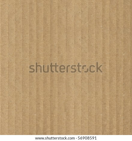 Large view of corrugated cardboard smoother side. Focus across entire surface.