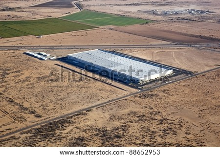 Large warehouse and distribution center