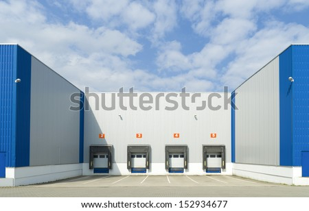 large warehouse with cargo doors