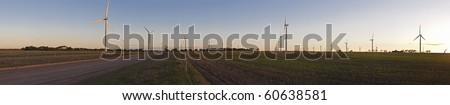 Large wind farm panorama