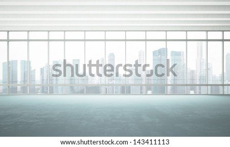 large window into white office #143411113
