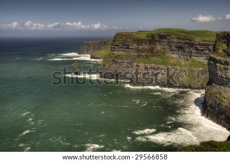largest cliffs on western front, cliffs of moher, county clare, ireland