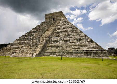 Largest temple at Chichen Itza one of the new seven wonders of the world