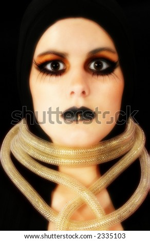stock photo : Larp, live action role play, alien woman adult with costume ...