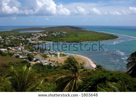 Las Croabas entspannender Bereich in Fajardo, in Puerto Rico,in weithin bekannt für seine Schönheit und große Nahrung. - stock photo