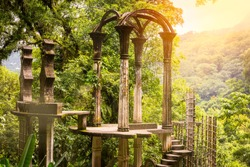 Las Pozas, a surrealist botanical garden in Xilitla Mexico by Edward James.