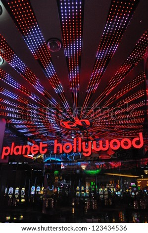 LAS VEGAS - DECEMBER 4: Planet Hollywood Resort and Casino on December 4, 2012 in Las Vegas. Planet Hollywood has over 2,500 rooms available and is located on Las Vegas Boulevard.