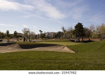 Las Vegas Desert Golf Course Hazard