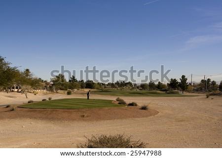 Las Vegas Desert Golf Course Tee Box