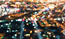 Las Vegas Downtown - Defocused lights bokeh