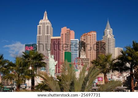 las vegas skyline. stock photo : Las Vegas