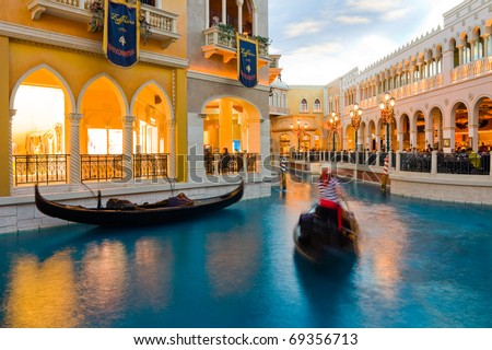 LAS VEGAS - JANUARY 2: The Venetian Resort Hotel & Casino on January 2, 2011. Resort opened on May 3, 1999 with white doves, sounding trumpets, singing gondoliers & actress Sophia Loren.